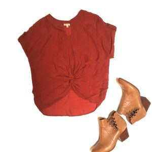 2/$22 Red Blouse by Lily White